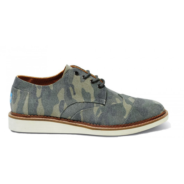 Toms Camo Canvas Men Brogues Outlet Coupons
