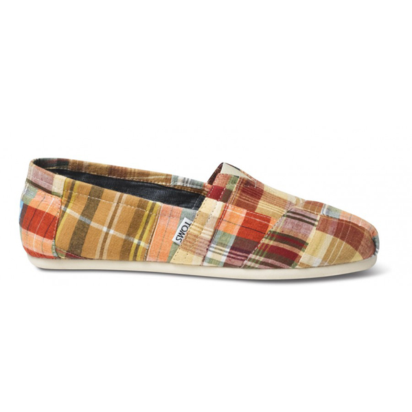 Toms Madras Plaid Men Classics Outlet Coupons