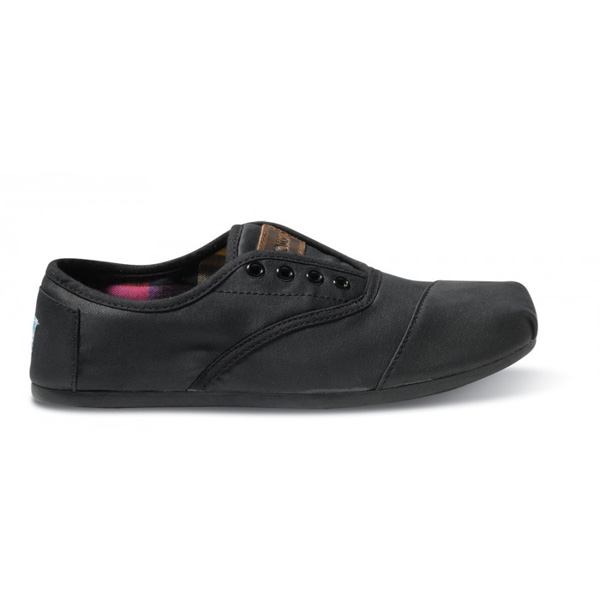 Toms Black Waxed Twill Men Cordones Outlet Coupons