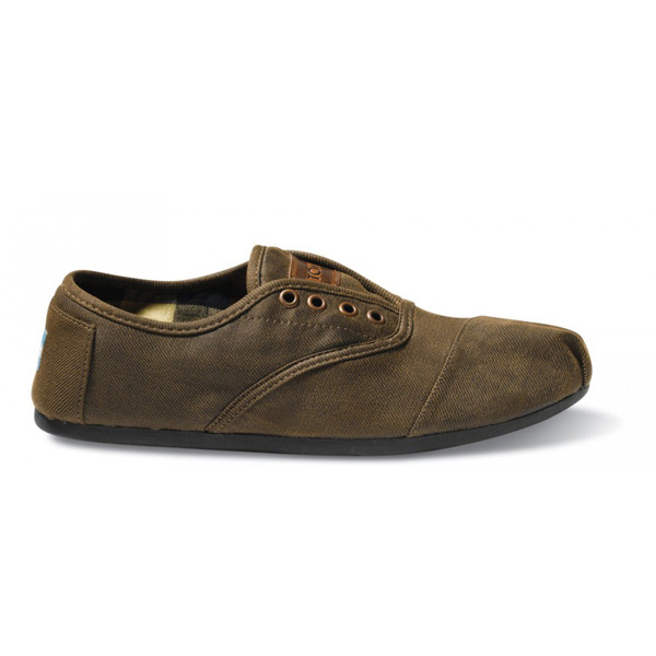 Toms Brown Waxed Twill Men Cordones Outlet Coupons
