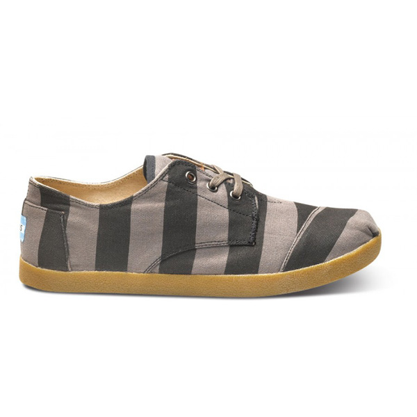 Toms Grey Stripe Canvas Men Paseo Outlet Coupons