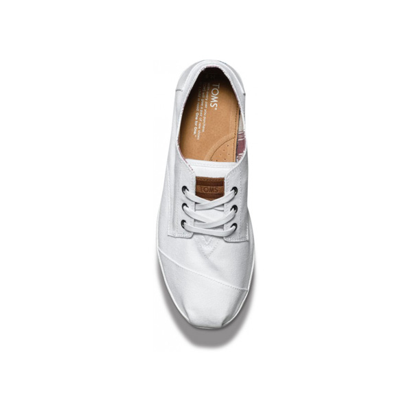 Toms White Canvas Men Paseos Outlet Coupons