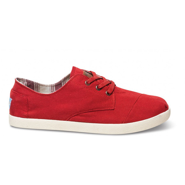 Toms Red Canvas Men Paseos Outlet Coupons