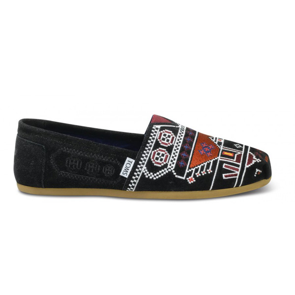 TOMS+ Istanbul Black Suede Men Classics Outlet Coupons
