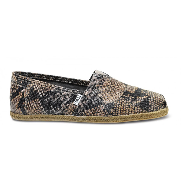 TOMS+ Grey Serpentine Men Classics Outlet Coupons