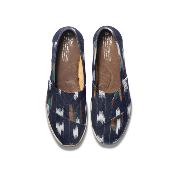 TOMS+ Navy Ikat Men Classics Outlet Coupons