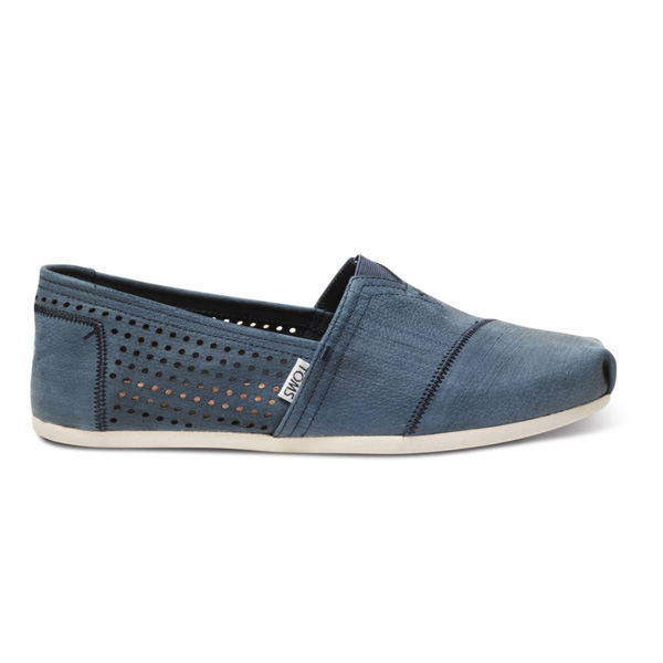 TOMS+ Navy Perforated Men Classics Outlet Coupons