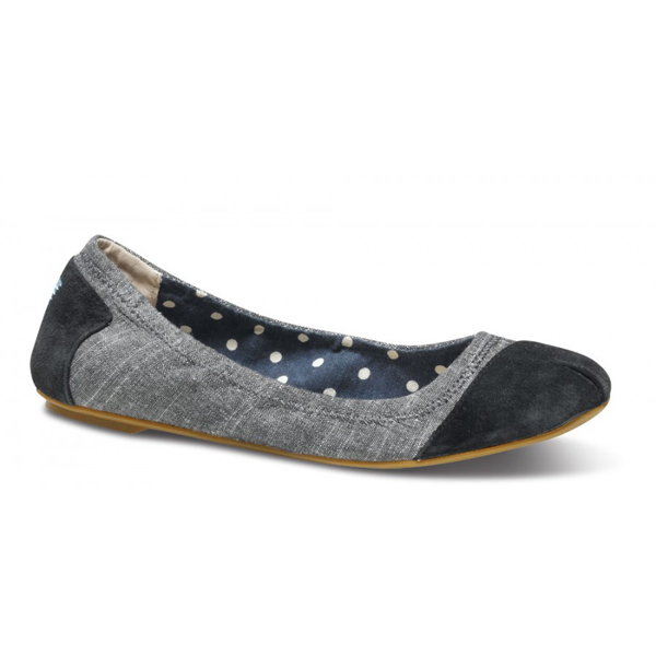 Toms Black Chambray Ballet Flats Outlet Coupons