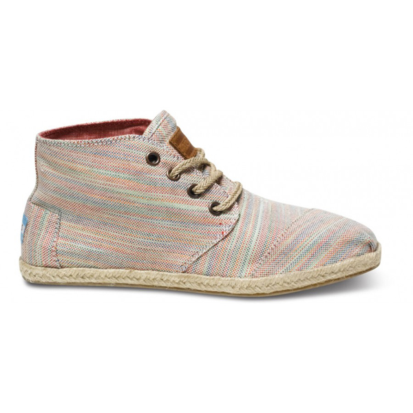 Toms Pilar Stripe Women Desert Botas Outlet Coupons