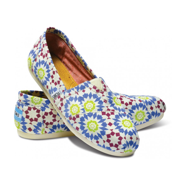 Toms Geometric Moroccan Navy Women Classics Outlet Coupons