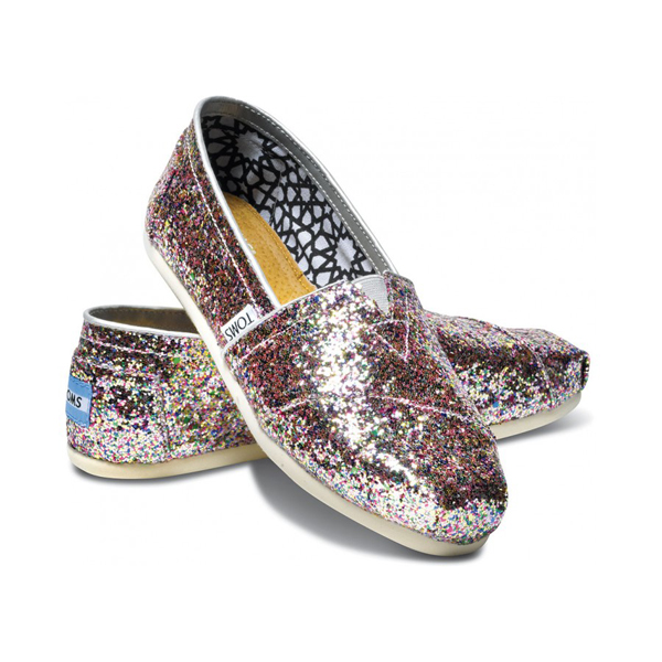 Toms Bright Multi Glitter Women Classics Outlet Coupons
