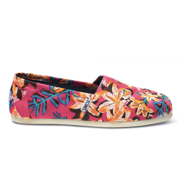 Toms Pink Floral Vegan Women Classics Outlet Coupons
