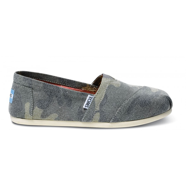 Toms Washed Camo Canvas Women Classics Outlet Coupons