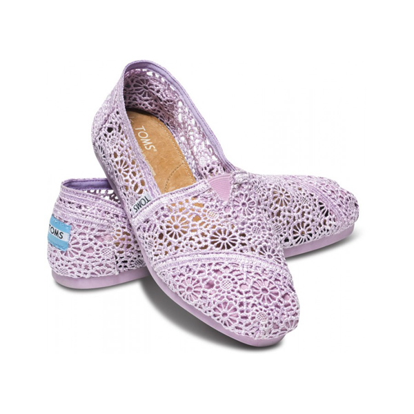 Toms Lilac Snow Crochet Women Classics Outlet Coupons