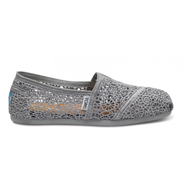 Toms Silver Crochet Women Classics Outlet Coupons