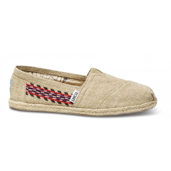 Toms Embroidered Hemp Women Classics Outlet Coupons