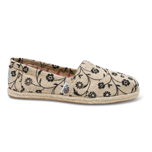 Toms Embroidered Floral Women Classics Outlet Coupons