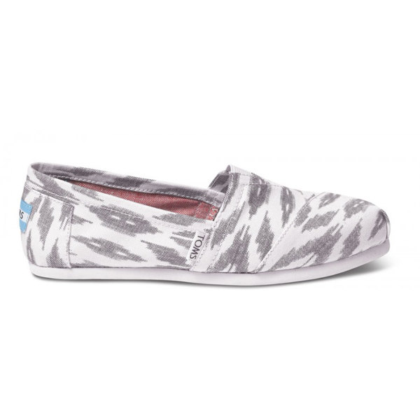Toms Grey Ikat Women Vegan Classics Outlet Coupons