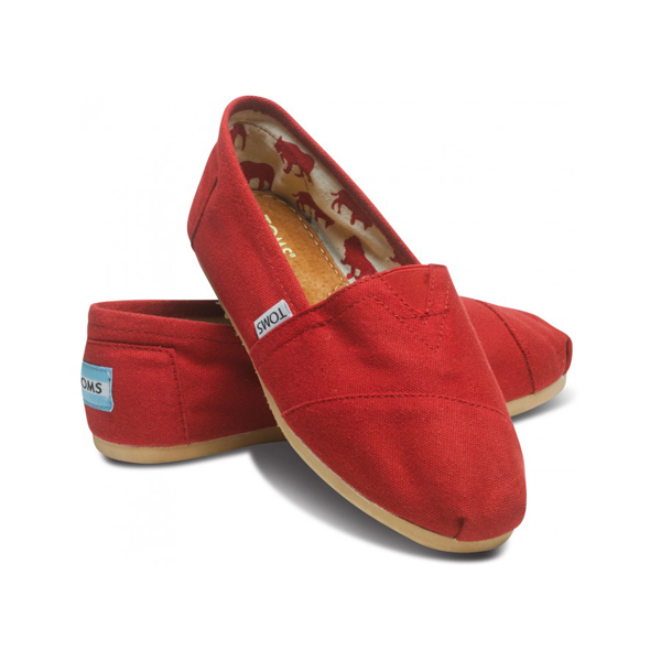 Toms Red Canvas Women Classics Outlet Coupons