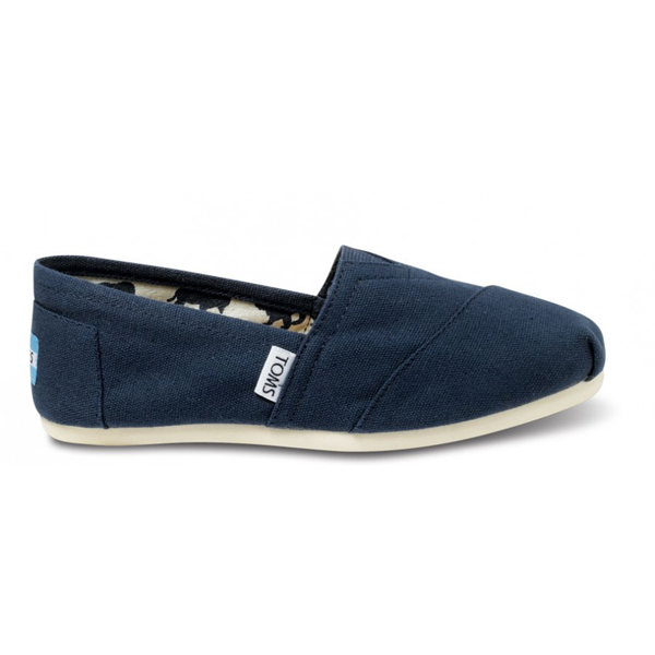 Toms Navy Canvas Women Classics Outlet Coupons