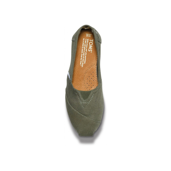 Toms Olive Canvas Women Classics Outlet Coupons