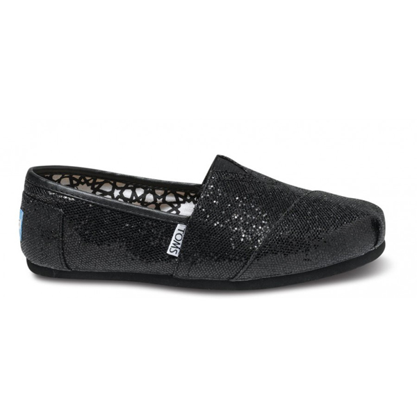 Toms Black Women Glitters Outlet Coupons