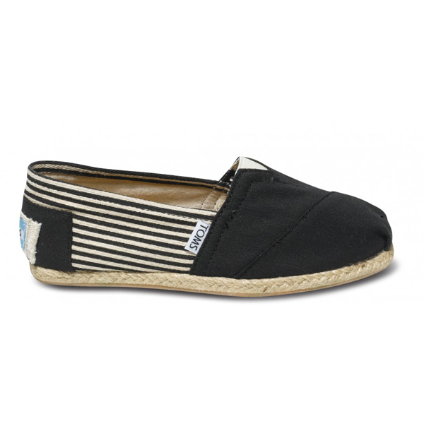 Toms University Black Rope Sole Women Classics Outlet Coupons