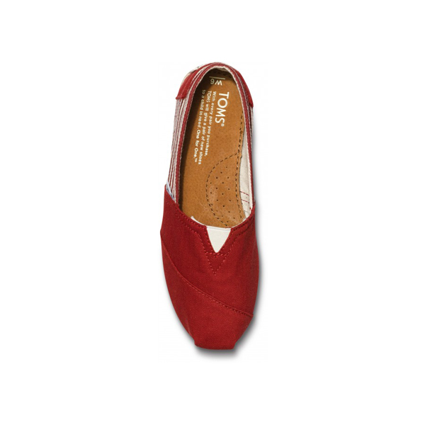 Toms University Red Rope Sole Women Classics Outlet Coupons