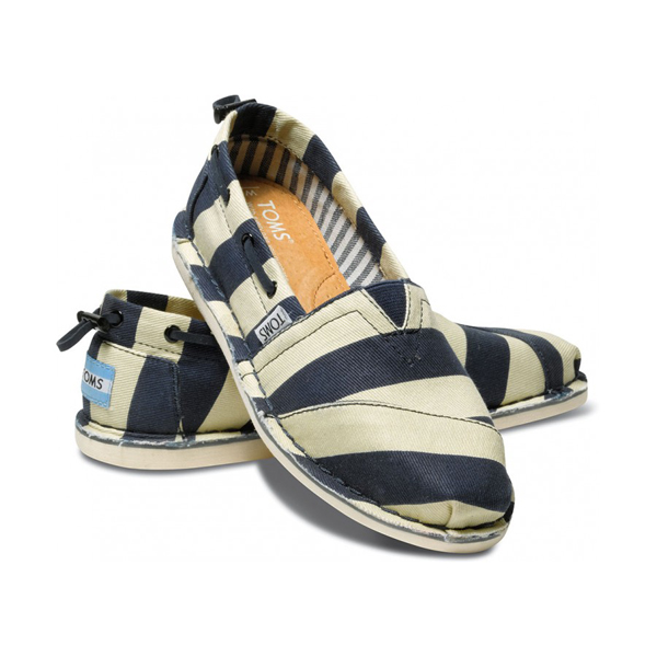 Toms Bold Stripe Denim Women Bimini Stitchouts Outlet Coupons