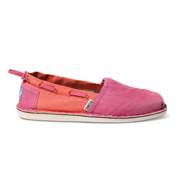 Toms Pink Orange Women Bimini Stitchouts Outlet Coupons