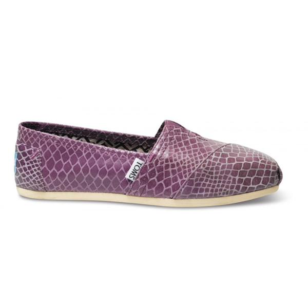 TOMS+ Lavender Serpentine Women Classics Outlet Coupons