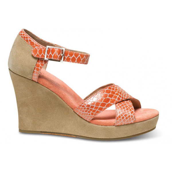 TOMS+ Coral Serpentine Strappy Wedges Outlet Coupons