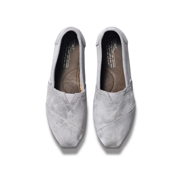 TOMS+ Grey Brushed Metal Women Classics Outlet Coupons
