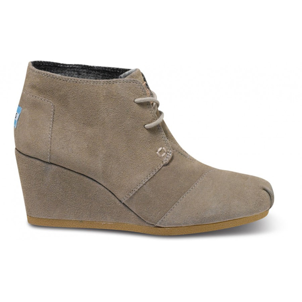 Toms Taupe Suede Women Desert Wedges Outlet Coupons