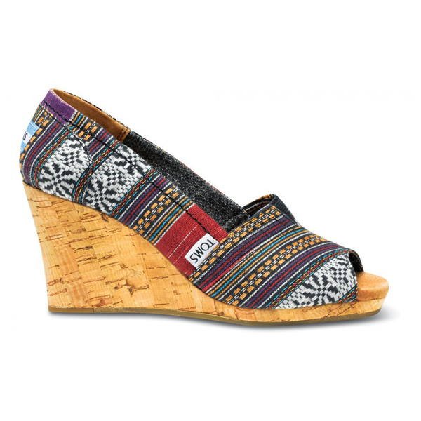 Toms Purple Lina Women Wedges Outlet Coupons