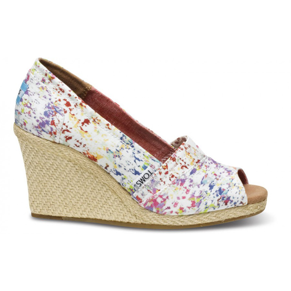 Toms Splatter Women Wedges Outlet Coupons